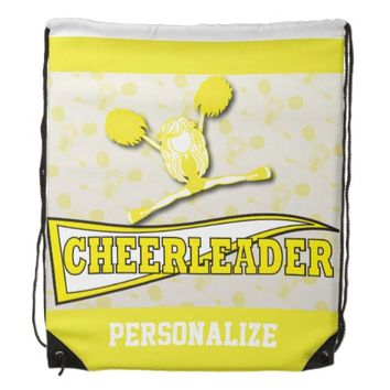 Cheerleader Personalize Backpacks -Yellow