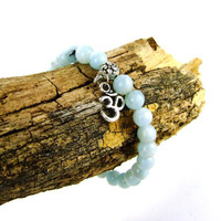 Aquamarine Energy Bracelet for Expression Blue OM by AnandaBijoux