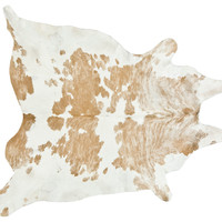 Natural Hide, Beige/White, Area Rugs
