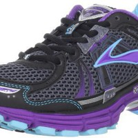 Brooks Women`s Adrenaline Gts 12 Running Shoe,Ombre Blue/Black/Royal Purple/Aquarius/Silver,8 M US