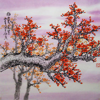 Original Art work chinese painting Lovely cherry blossom by art68