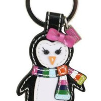 Coach Legacy Patent Leather Penguin Key Fob Ring