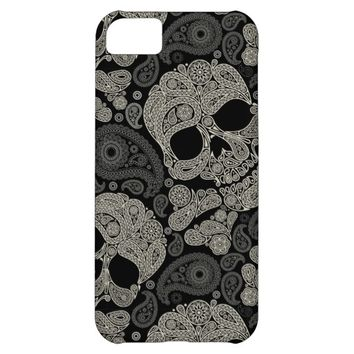 Sugar Skull Pattern Apple iPhone 5C Case