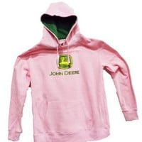 John Deere Glitter Logo Women&#x27;s Sweatshirt Pink