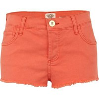 orange super short denim hotpants - River Island