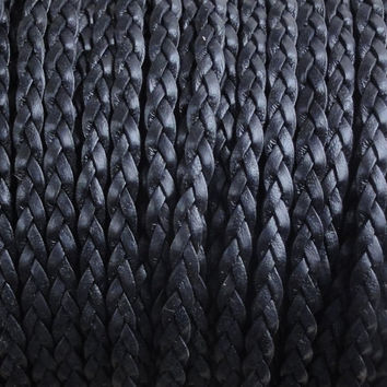 5 mm Fladt braided leather, handmade, leather supplies