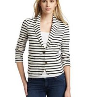 Splendid Women's Navy Stripe Jersey Blazer