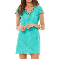 Erica Metallic Lace V-Neck Dress - Lilly Pulitzer
