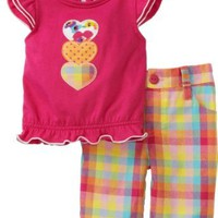 Carters Baby-girls Infant Plaid Capri Set with Hearts