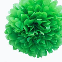 Dress My Cupcake Kelly Green Tissue Paper Pom Poms, Set of 12 - Christmas Arts Decorations, Christmas Supplies for Decorating