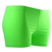 Gem Sports Neon Lime Volleyball Spandex - Sublimated Compression Shorts - SIZE: Small