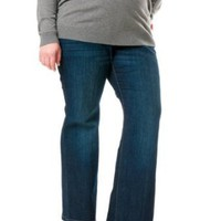 Motherhood Maternity: Plus Size Secret Fit Belly(tm) Super Stretch Maternity Jeans