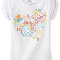 adidas Girls 2-6X All Heart Tee