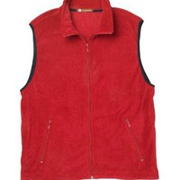 Harriton men's Fleece Full Zip Vest. M985