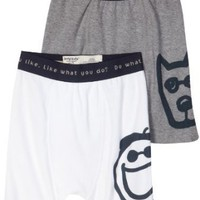 Life is Good Boys' Boxer Brief White/Heather Gray (2 Pack)