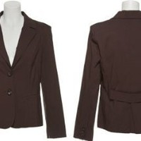COMPONIX 3-Pocket Stretch Buttoned Blazer [SM3025AH], Brown