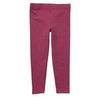 Carters Girls 2T-4T Pink/Brown Striped Leggings