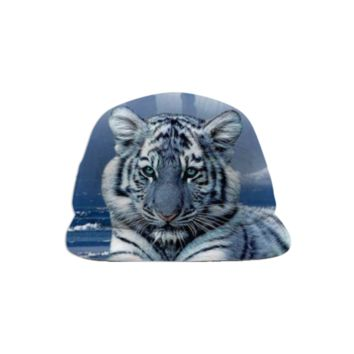 Blue Tiger Baseball Hat created by ErikaKaisersot | Print All Over Me