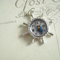 Sterling Silver Working Compass Charm