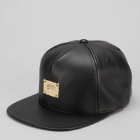 Stussy Lux Faux-Leather Snapback Hat - Urban Outfitters