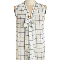 ModCloth Mid-length Sleeveless South Florida Spree Top in Plaid