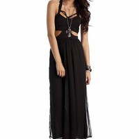 cage maxi dress $31.10 in BLACK - Casual | GoJane.com