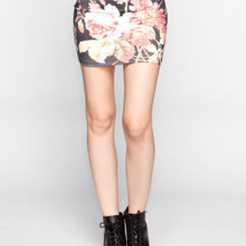 Neff Disney Collection Floral Skirt Black Combo  In Sizes