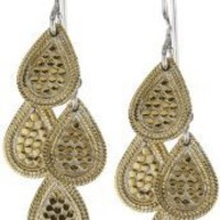 "Anna Beck Designs ""Gili"" Mini Chandelier 18k Gold-Plated Earrings"