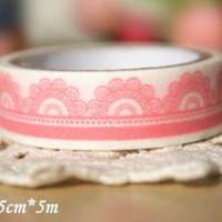 Washi Tape - Pink Lace 2 rolls WT673