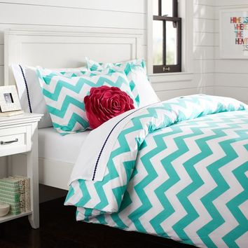 Chevron Duvet Cover  Sham Pool