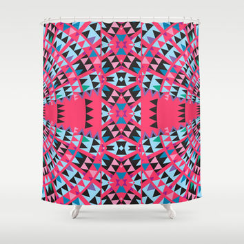 Pink Shower Curtain by Ornaart