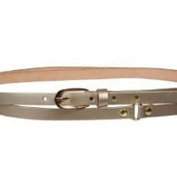 1/2` (13 mm) Skinny Solid Leather Double Wrap Belt