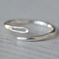 $45.00 Sterling sewing needle ring  made to order open or closed by SilverBlueberry