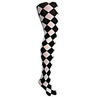 Black & White Jester Diamond Harlequin Tights