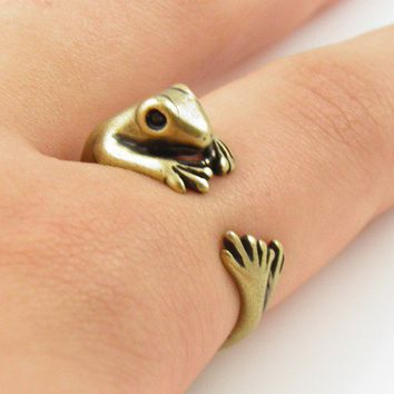 Gold Frog Wrap Ring | KejaJewelry - Jewelry on ArtFire