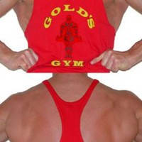 G301 Golds Gym String Mens Tank Top - New Logo