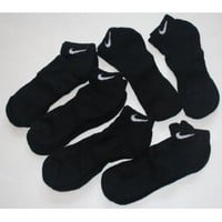 Nike Men's Performance Moisture Wicking Low Cut Socks 6 Pair - Shoe Size: 8-12 - Black