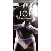 Joe Joseph Abboud 5pk Men`s Low Rise Bikini Briefs Sz:Large W36-38 White
