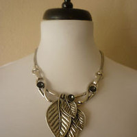 * ANTHROPOLOGIE*MAJESTIC LEAVES* Necklace*