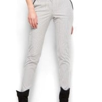Mango Women's Suit Striped Trousers