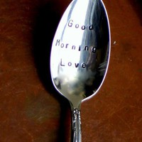 Good Morning Love Coffee Spoon Organically by SycamoreHill
