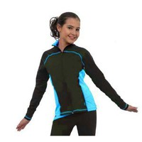 Chloe Noel J06 Black/Turquoise Princess Seam Skate Jacket - Child Large
