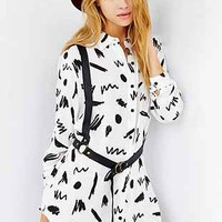 Lazy Oaf Scribbled Shirtdress - Urban Outfitters