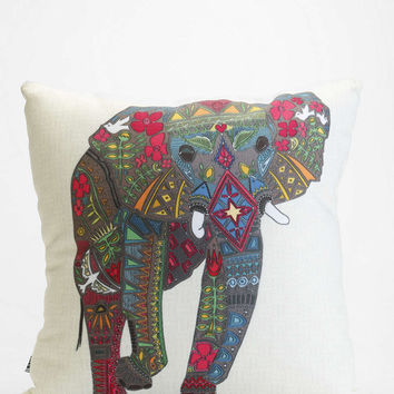 Sharon Turner for DENY Painted Elephant Pillow  Urban Outfitters