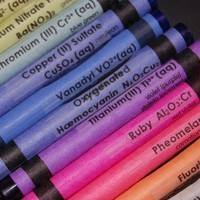 Chemistry Crayon CLEAR Labels  set of 96 by QueInteresante on Etsy