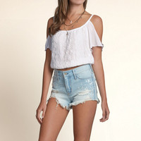 Scripps Park Lace Cold Shoulder Top