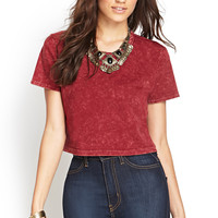 Boxy Mineral Wash Crop Top