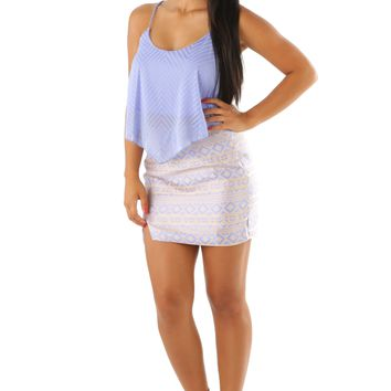 Point To Her Crop Top: Periwinkle