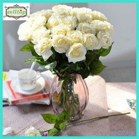 Source 43cm silk real touch artificial roses bulk on m.alibaba.com