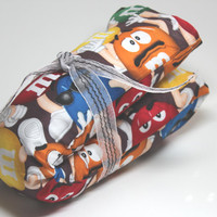 MICROWAVE Neck Heat Pad - Long Therapudic Rice bag w/wo Lavender  scent - M&M printed fabric